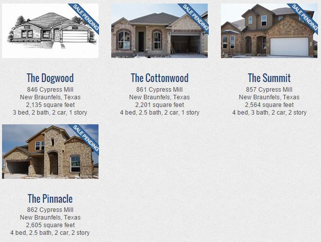 New Homes for Sale in New Braunfels: Avery Park by DR Horton | DAWN